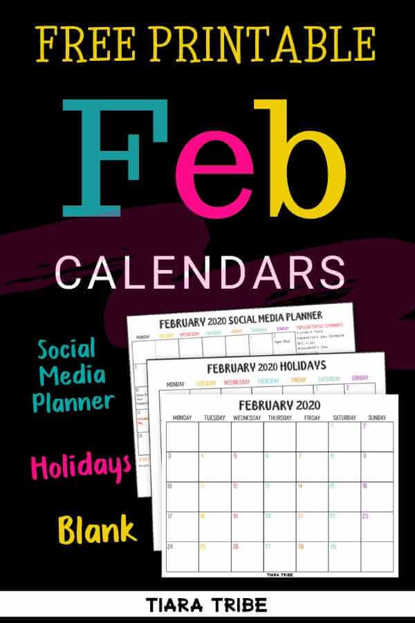 February calendars to print out and keep