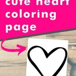 Get this cute heart coloring page