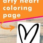 Get this arty heart coloring page