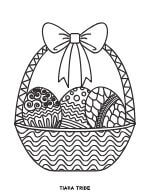 Easter eggs in Easter basket coloring page