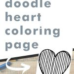 Get this doodle heart coloring page