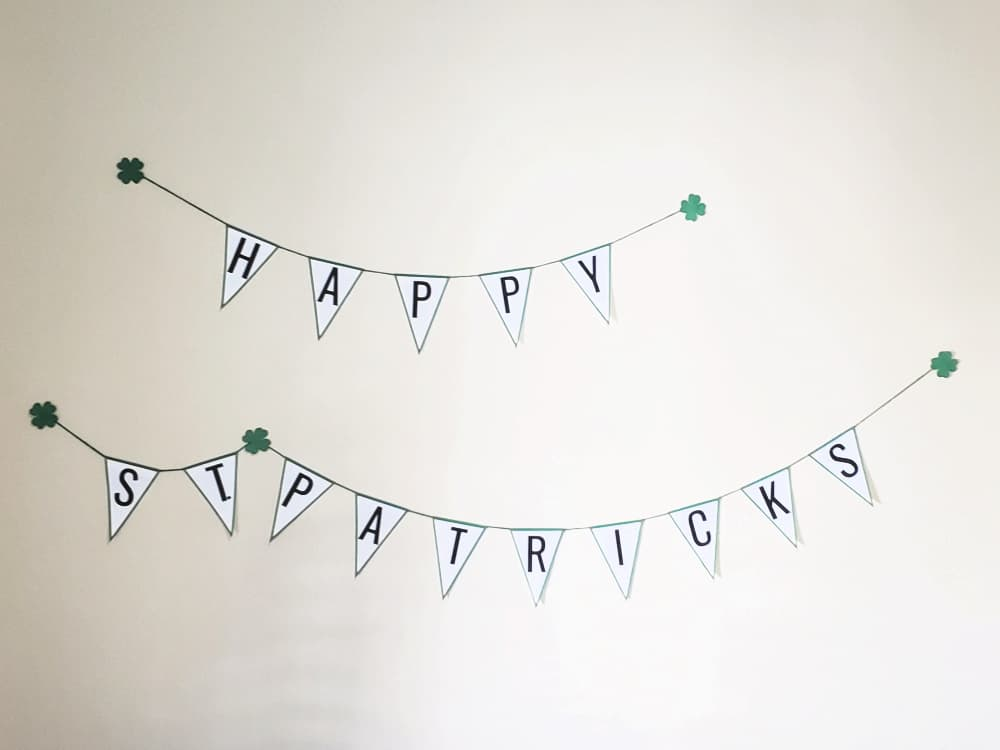 Happy St Patricks Day bunting
