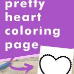 Get this pretty heart coloring page