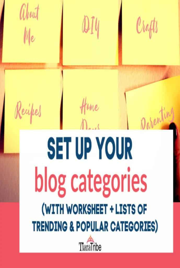 Set up your blog categories | With worksheet & lists of trending categories