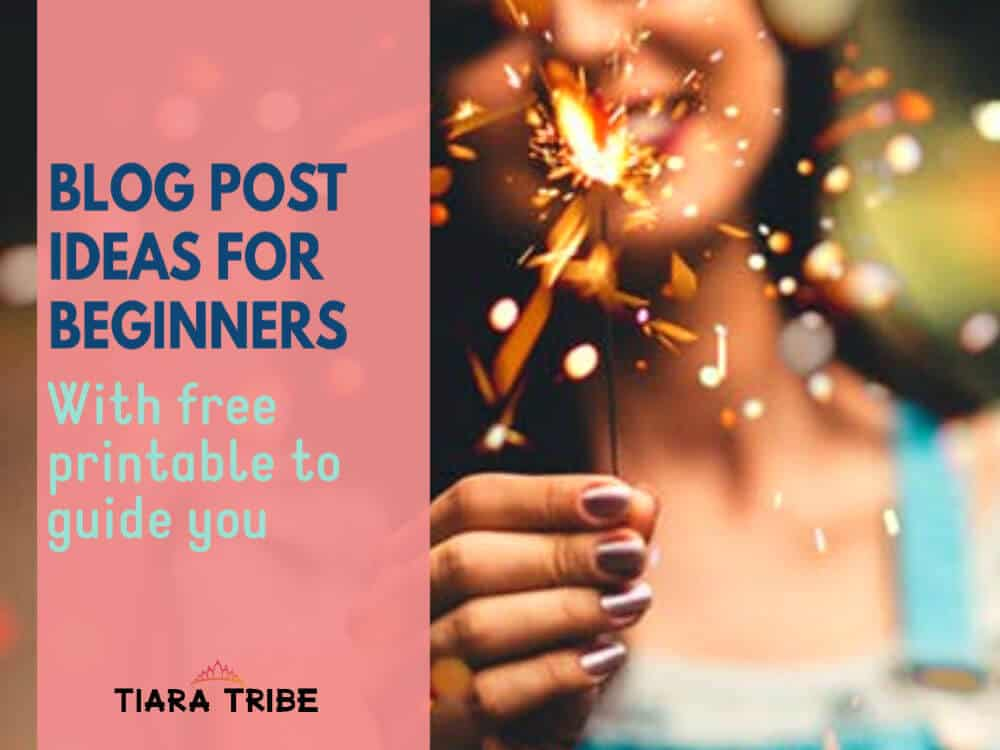 Blog post ideas for beginners: A free 2-page guide on my system