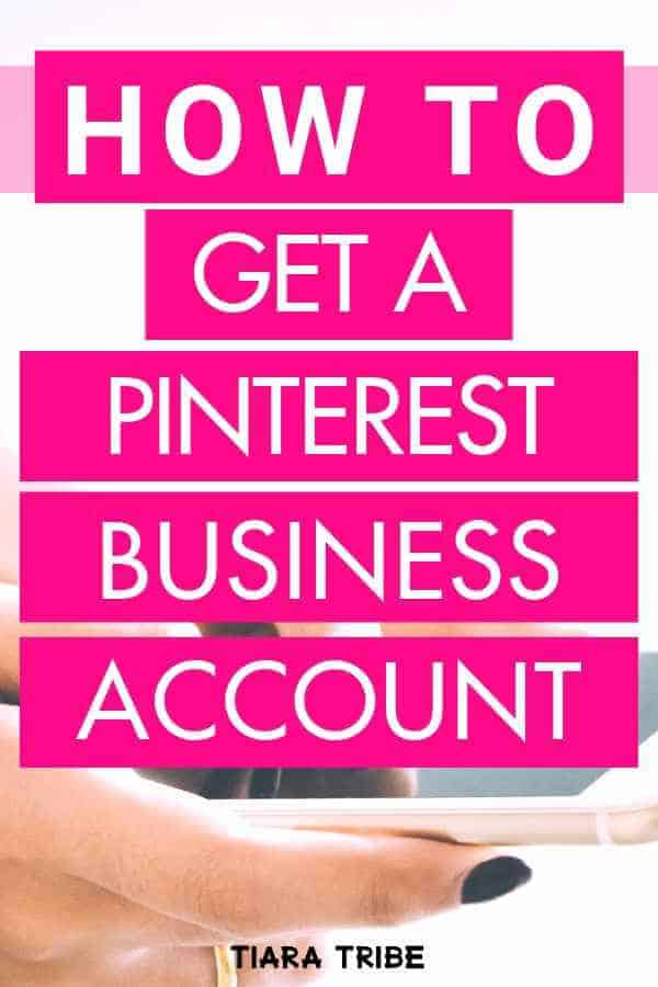 How to get a Pinterest business account