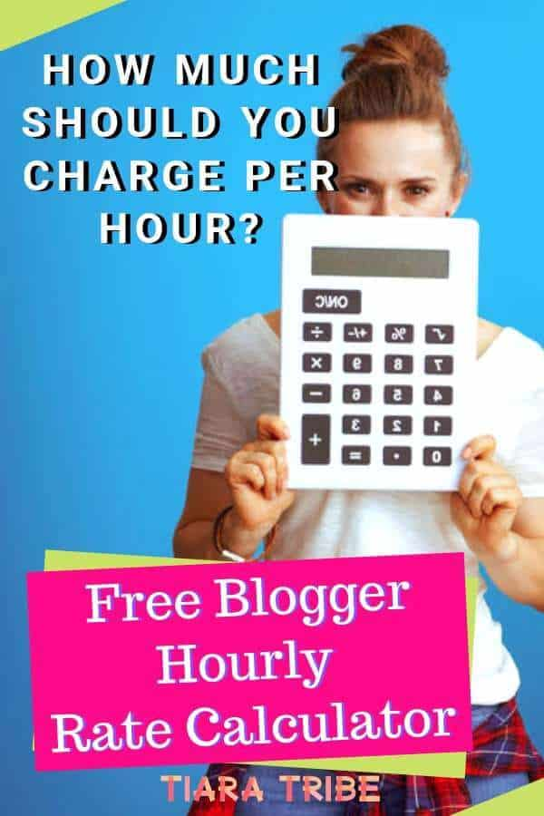 How much should you charge per hour? Find out with this free blogger hourly rate calculator!