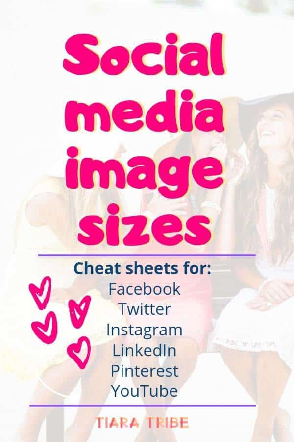 Standard social media images sizes cheat sheets for Facebook, Twitter, Instagram, LinkedIn, Pinterest and YouTube. Check them all in one place!