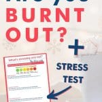 Stress test for stress relief and burnout