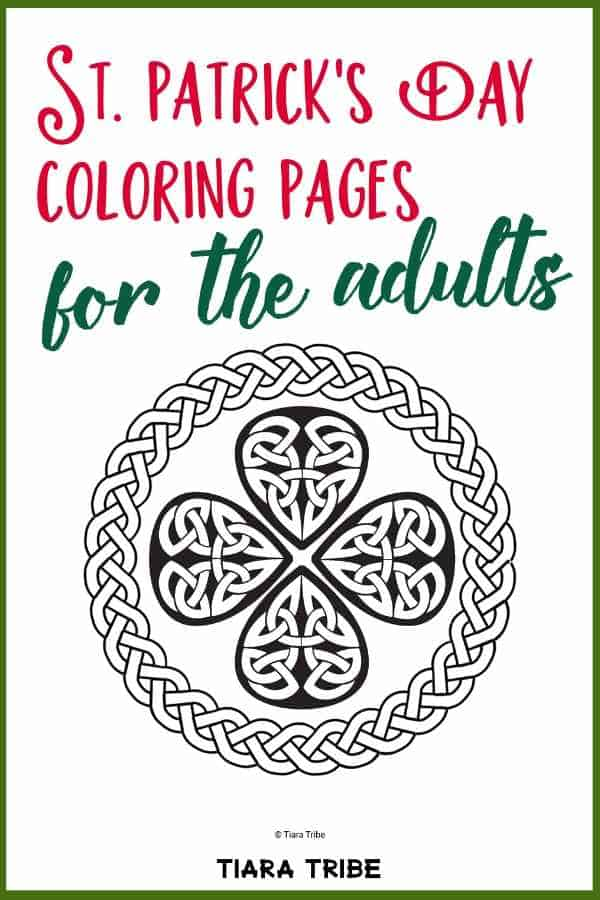 St Patrick's Day coloring pages for adults