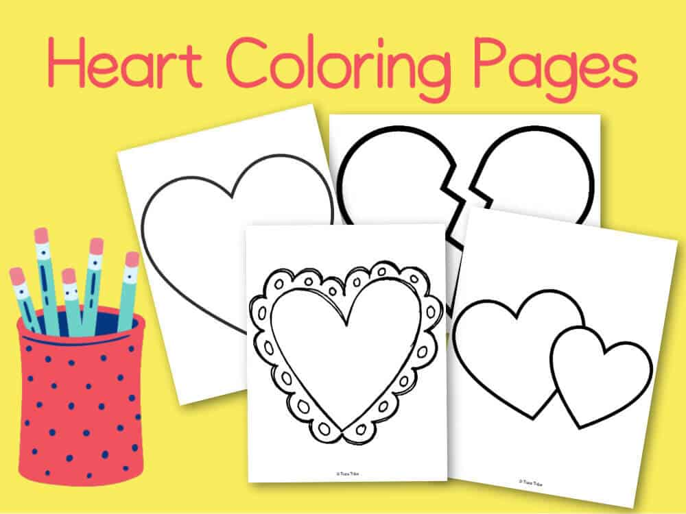 Free Printable Flower and Heart Coloring Pages - Buggy and Buddy | 750x1000