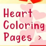 Get free heart color pages in landscape and portrait format