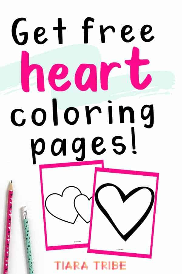 Get free heart coloring pages
