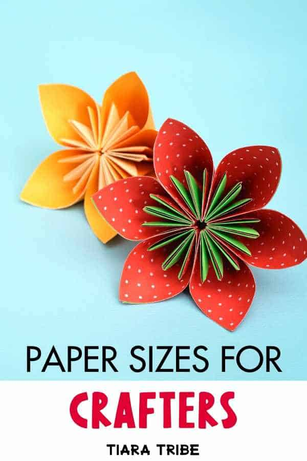 Paper Sizes For Crafters