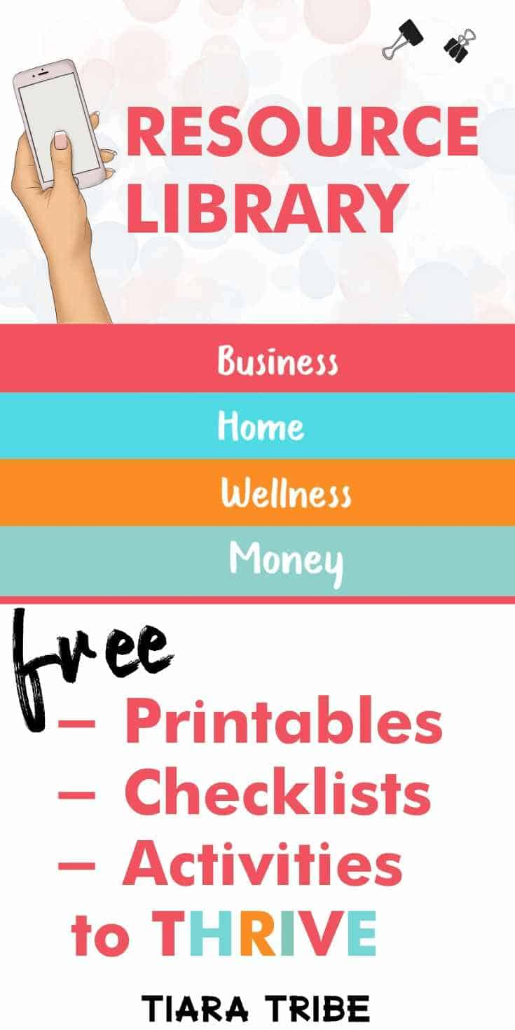 Get the password to the free blogging resource library at Tiara Tribe #freeprintables #bloggingtools #bloggingresources #freebloggingstuff #blogginglibrary