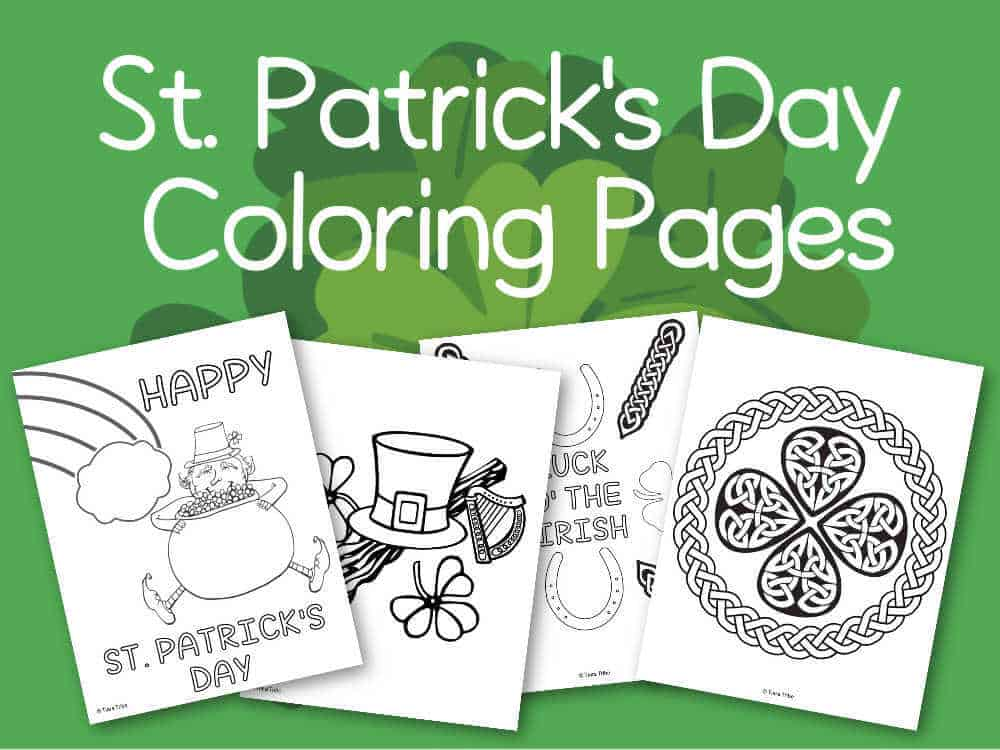 Leprechaun Top Hat Coloring Page • FREE Printable eBook | St ... | 750x1000