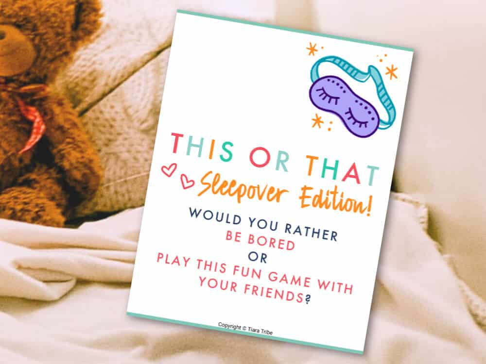Fun Sleepover Game for Girls: This or That Questions