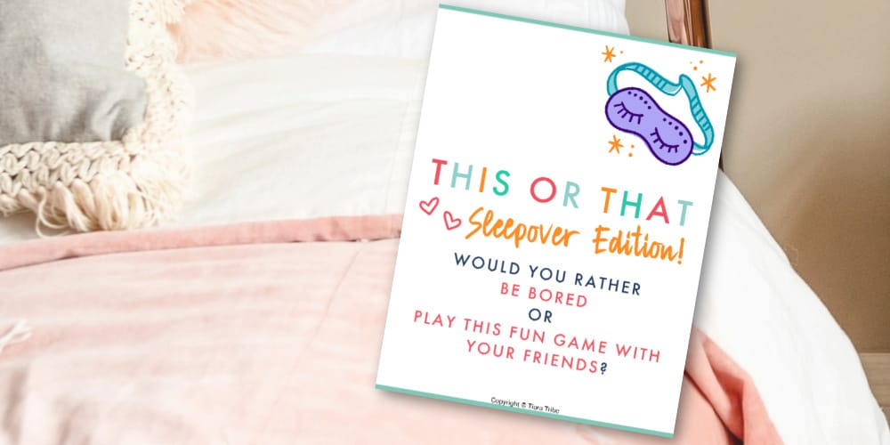 Sleepover games for pretweens and teen girls