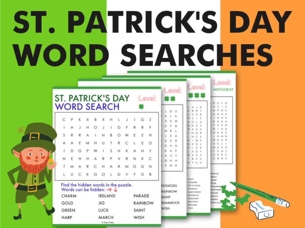 Free St. Patrick's Day Word Searches: From Easy to Impossible