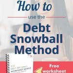 Make 2021 the year you pay off all your debt with the Debt Snowball Method - free pretty debt snowball worksheet bundle to print and use, with step-by-step instructions