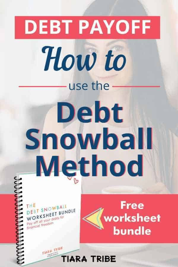 Make 2020 the year you pay off all your debt with the Debt Snowball Method - free pretty debt snowball worksheet bundle to print and use, with step-by-step instructions