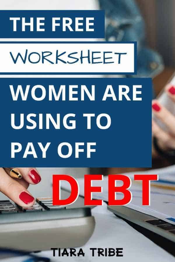 Women are using this free worksheet to payoff debt