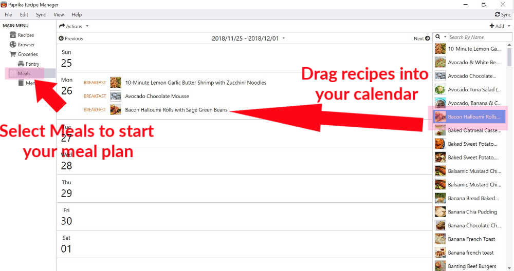 Paprika app | How to add recipes to a meal plan in Paprika app