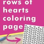 Get this rows of hearts coloring page