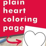 Get this plain heart coloring page