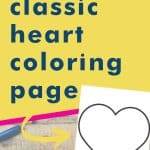 Get this classic heart coloring page
