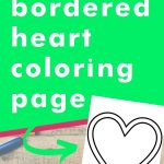 Get this bordered heart coloring page