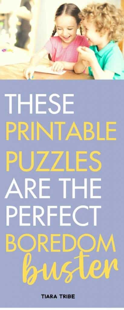 Fun printable puzzles for kids