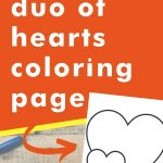 Get this duo of hearts coloring page