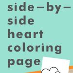 Get this side-by-side hearts coloring page