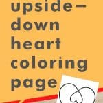 Get this upside-down heart coloring page