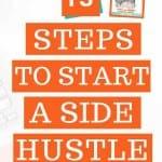 13 steps to start a side hustle