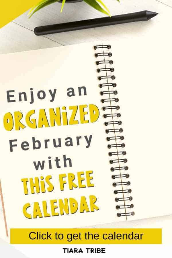 Enjoy a peaceful and organized February with this cute free blank calendar that's printable