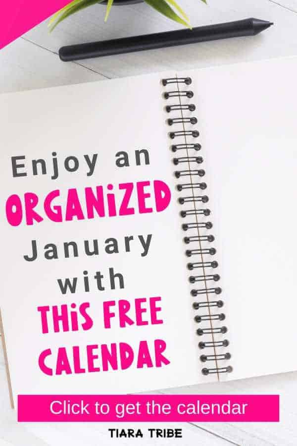 Enjoy a peaceful and organized January with this cute free blank calendar that's printable