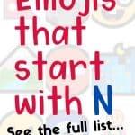 46 emojis that start with N
