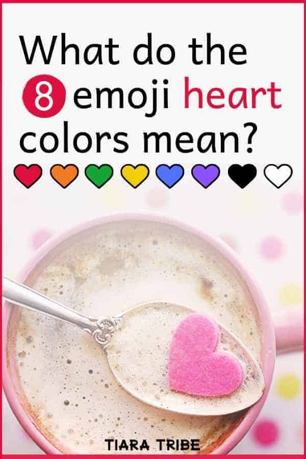 What the different emoji heart colors mean