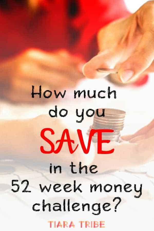 How much do you save in the 52 week money challenge? Hint: a lot!