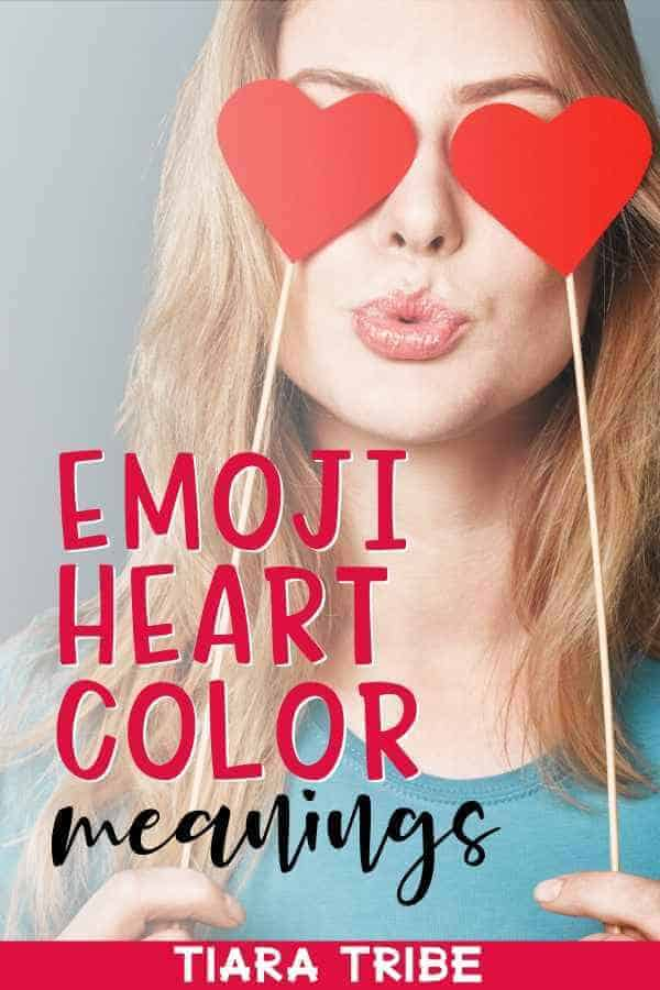 Emoji heart color meanings