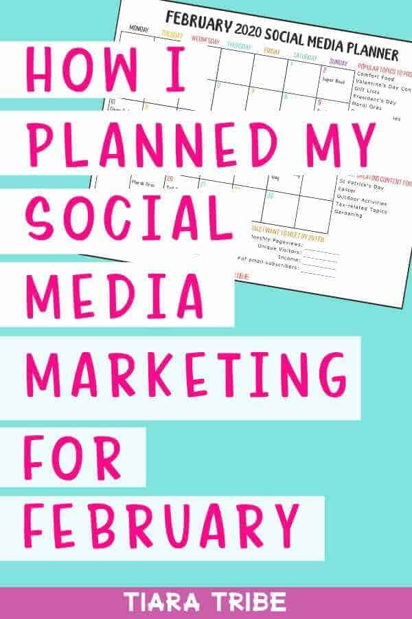 How I've planned social media marketing for February