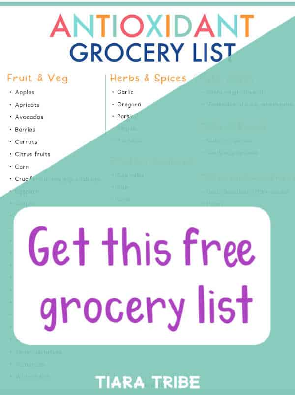 Antioxidant grocery list sign up picture