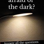 Lamp shining on black background
