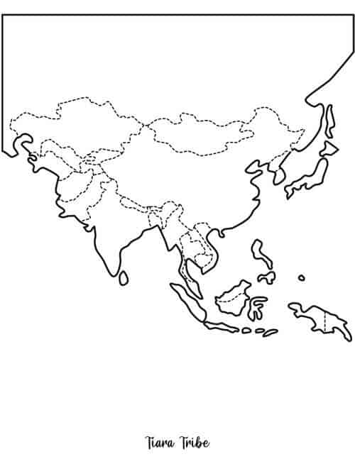 Asia coloring page