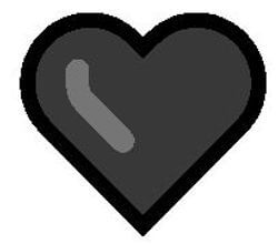 Black heart emoji meaning picture
