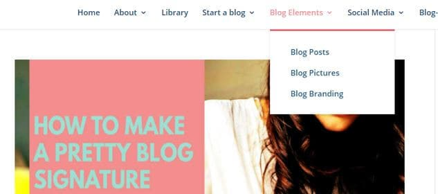 Set up blog categories from Tiara Tribe