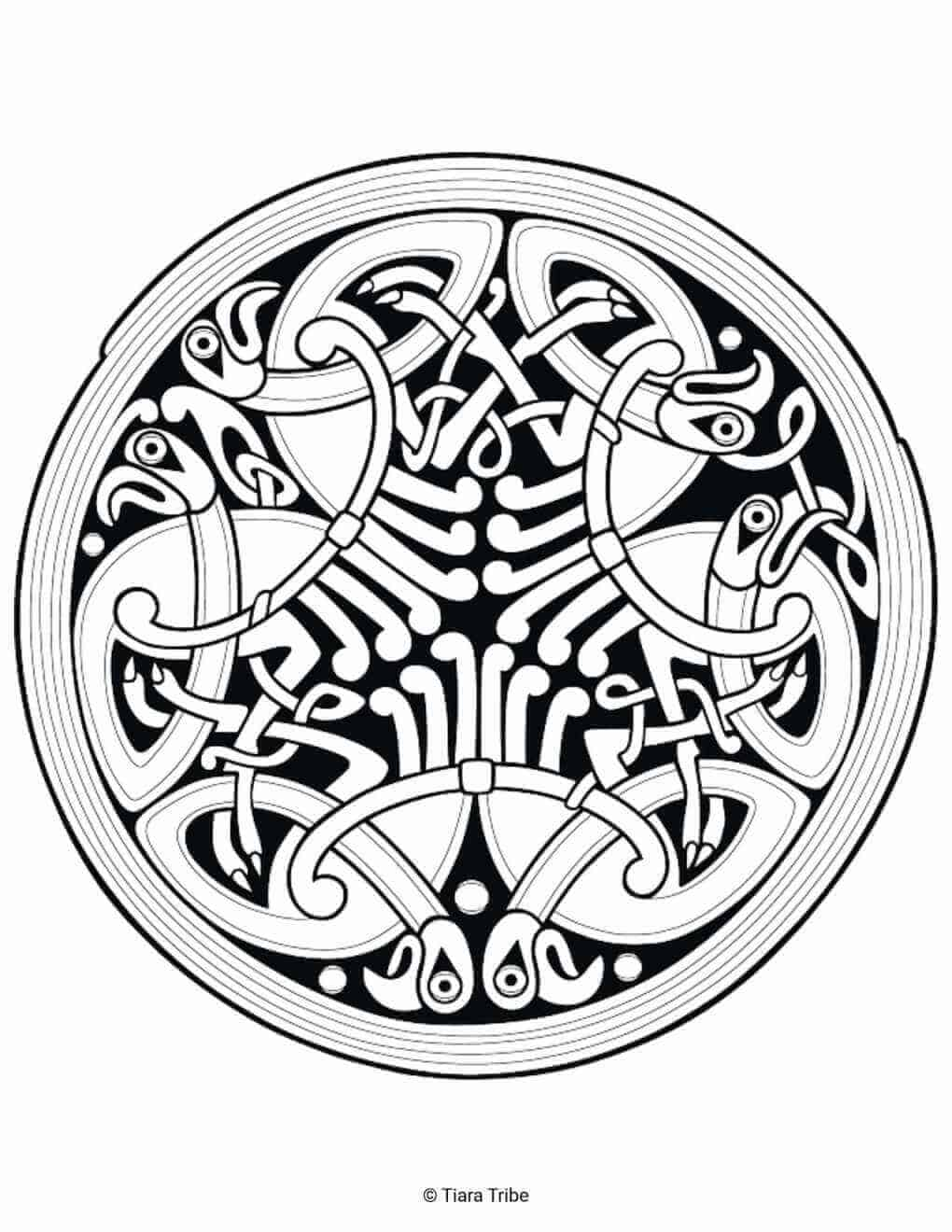 Celtic Circle Design 2 Coloring Page