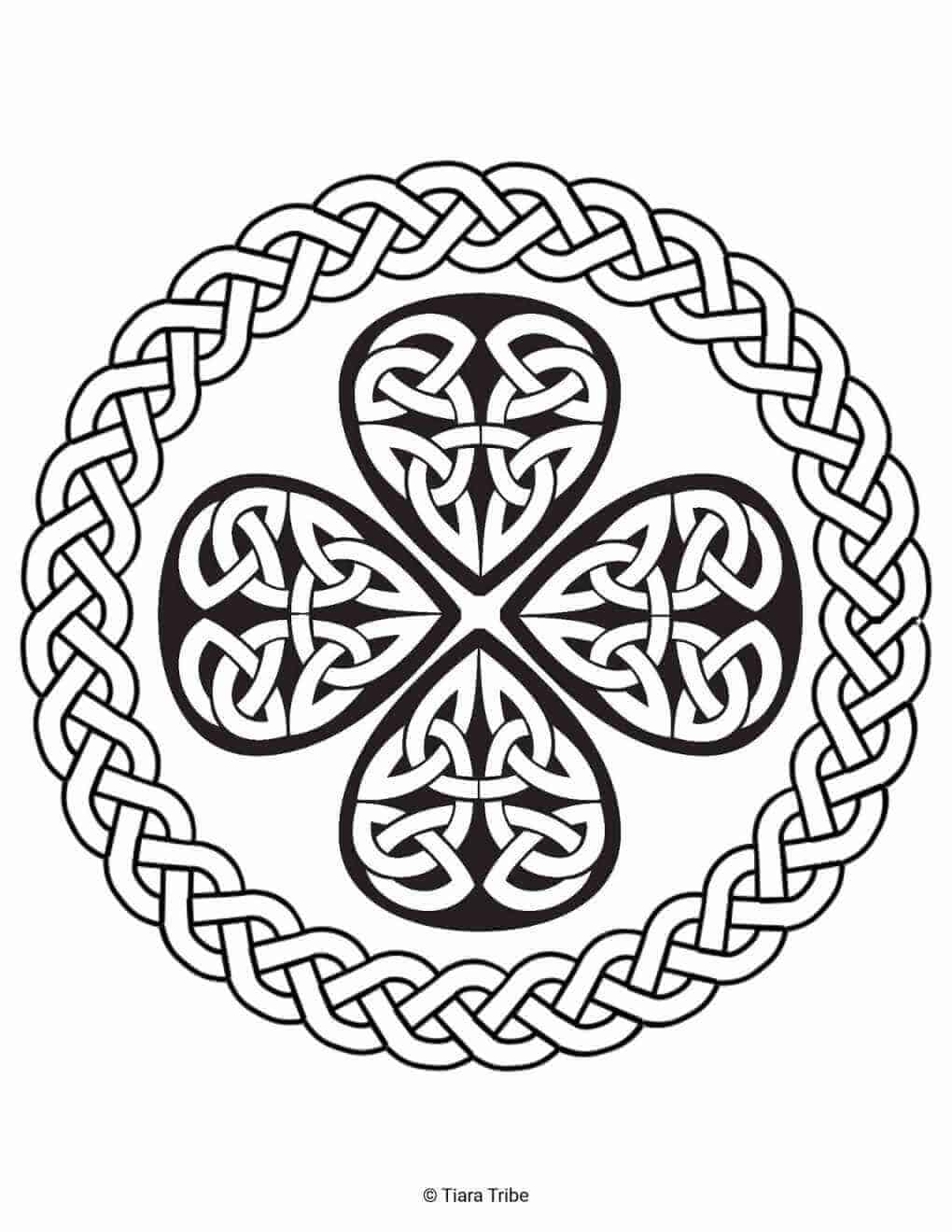 Celtic Rope Design Coloring Page